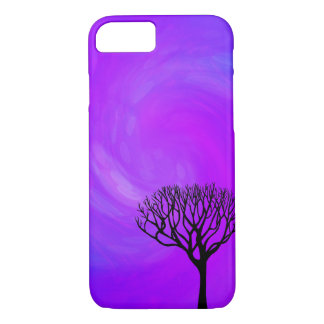 Tree Silhouette (Northern Lights) iPhone 8/7 Case