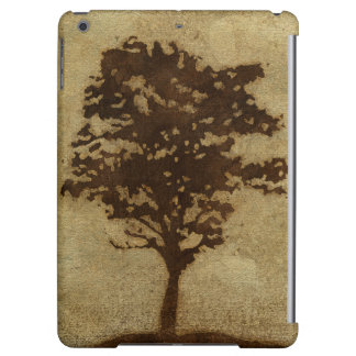 Tree Silhouette on Bronze Background