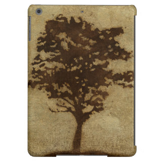 Tree Silhouette on Bronze Background Case For iPad Air