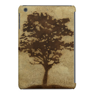 Tree Silhouette on Bronze Background iPad Mini Case
