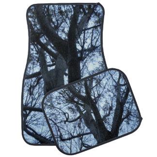 Tree Silhouette Photograph Car Mat Set