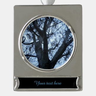 Tree Silhouette Photograph Custom Ornament
