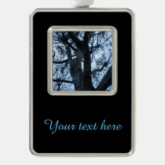 Tree Silhouette Photograph Customizable Ornament