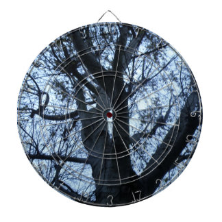 Tree Silhouette Photograph Dart Board