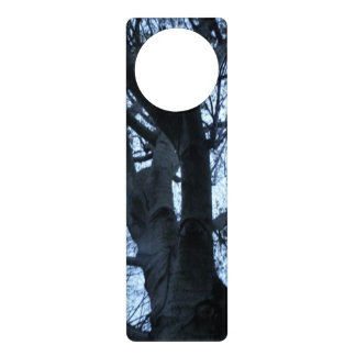 Tree Silhouette Photograph Door Hanger