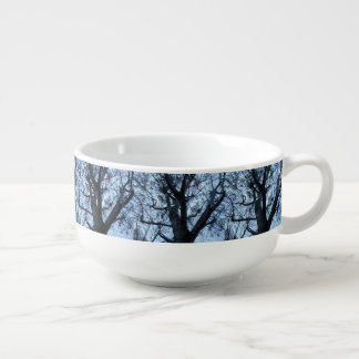 Tree Silhouette Photograph Soup Mug