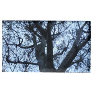 Tree Silhouette Photograph Table Card Holder