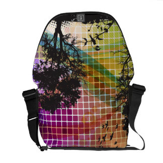 Tree Silhouette Vector Abstract Art Commuter Bag