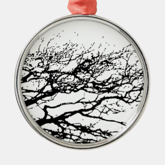 tree Silver-Colored round decoration