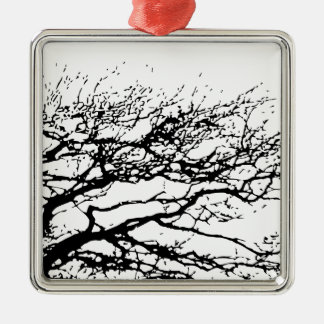 tree Silver-Colored square decoration
