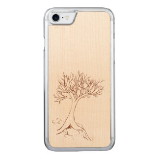 Tree sketch carved iPhone 7 case