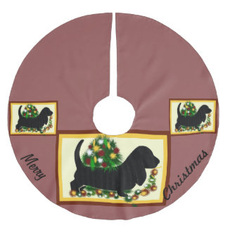 Tree Skirt~Basset Hound Brushed Polyester Tree Skirt
