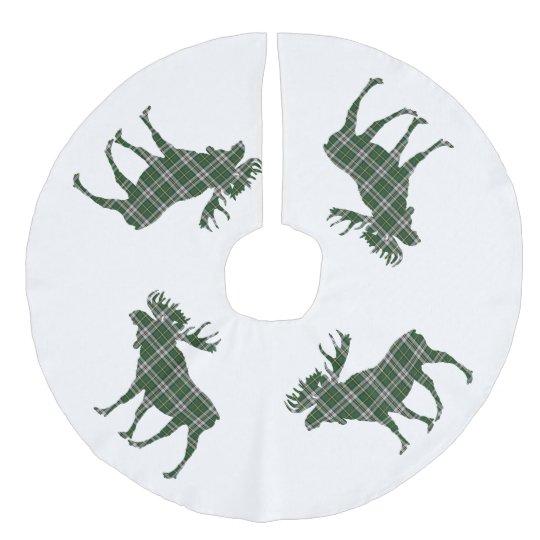Tree skirt Christmas Cape Breton  tartan moose