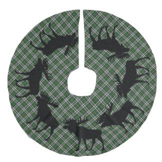 Tree skirt Christmas Cape Breton  tartan moose Faux Linen Tree Skirt