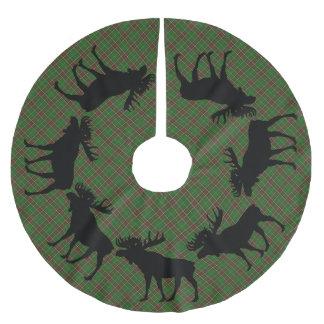 Tree skirt Christmas Newfoundland tartan moose Brushed Polyester Tree Skirt