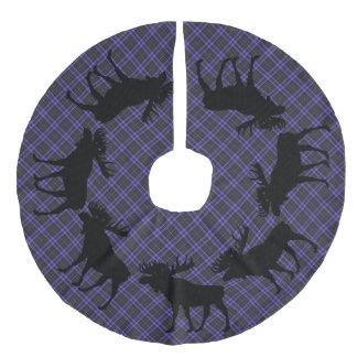 Tree skirt  Country Christmas Purple plaid moose