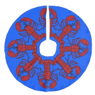 Tree skirt  Cute Lobster Nautical beach blue