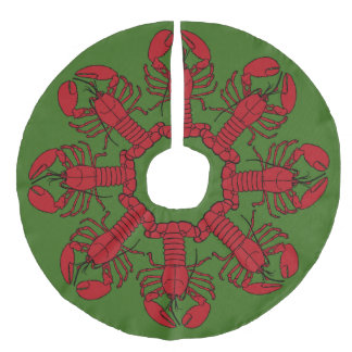 Tree skirt  Cute Lobster Nautical beach green