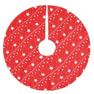 Tree Skirt - Stars in red bottom