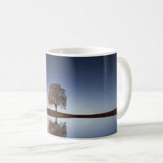 Tree Sky Reflection Relaxing Scene, Coffee Mug