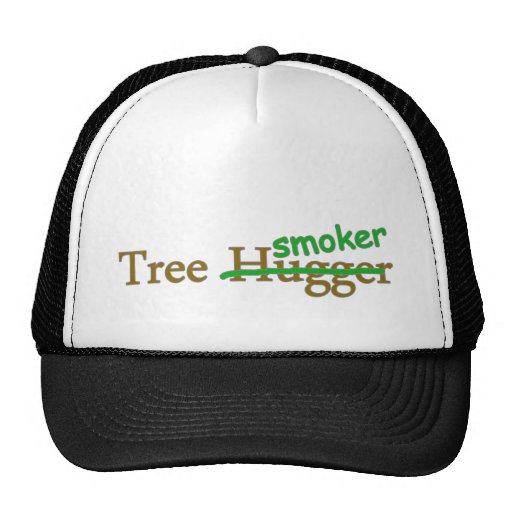 Tree smoker funny 420 stoner pot humour cap