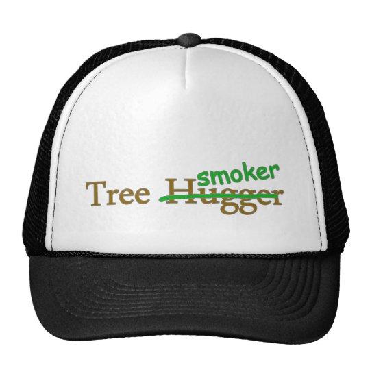 Tree smoker funny 420 stoner pot humour cap