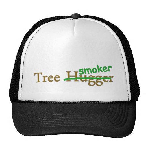 Tree smoker funny 420 stoner pot humour hat