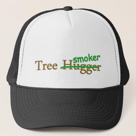 Tree smoker funny 420 stoner pot humour trucker hat