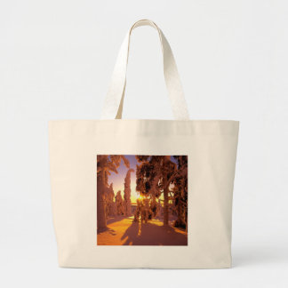 Tree Snow Covered Forest Finland Canvas Bags