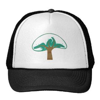 Tree snow tree snow trucker hat
