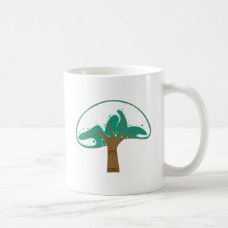 Tree snow tree snow coffee mug