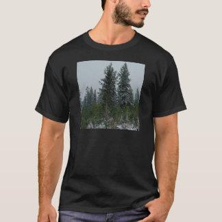 Tree Snowey Conifer Hill T-Shirt