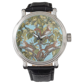 Tree Squirrels Animal Print Squirrel Pattern Print Watch