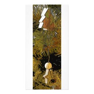 Tree star lines customised photo card