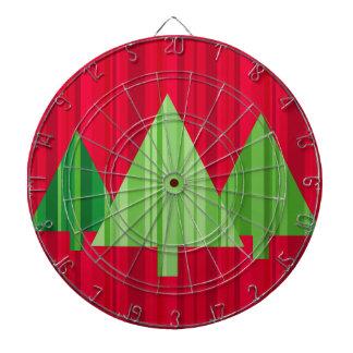 Tree Stripes Christmas Dartboard