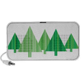 Tree Stripes Christmas Doodle Speaker (White)
