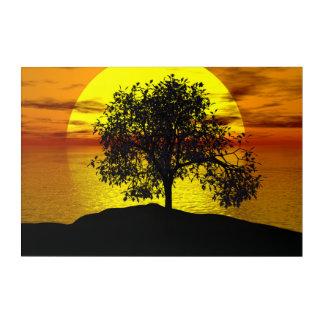 Tree-sun Acrylic Print