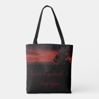 Tree Sunrise - New Beginning Tote Bag