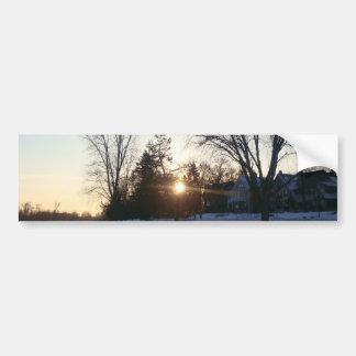 Tree Sunset Bumper Sticker