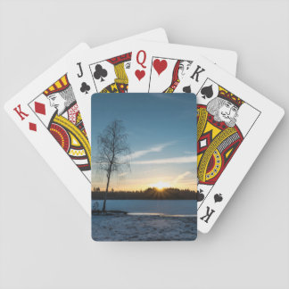 Tree Sunset Playing Cards