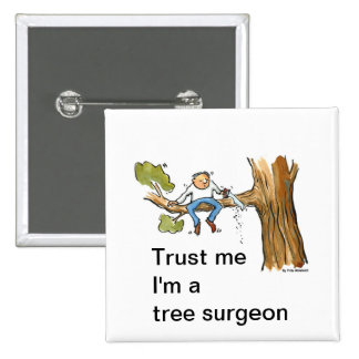 tree surgeon 15 cm square badge