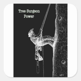 Tree Surgeon Arborist at work present Chainsaw Square Sticker