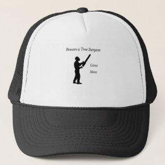 Tree Surgeon Arborist at work present Chainsaw Trucker Hat