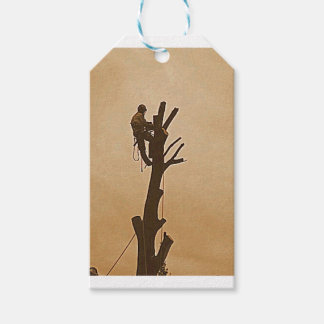 Tree Surgeon Arborist at work present Gift Tags