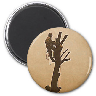 Tree Surgeon Arborist at work present Magnet