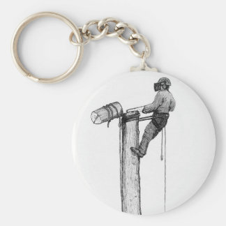 Tree Surgeon Arborist Forester Key Ring