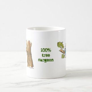 tree surgeon classic white coffee mug
