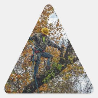 Tree Surgeon Triangle Sticker