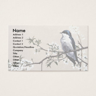 Tree swallow business card