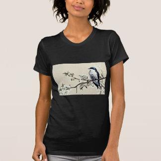 Tree swallow  flowers tshirt